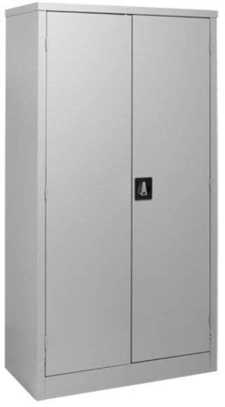 Steel Cupboard by 2 Door Steel Cabinet All Shelves Grey 180 X 90 X 45