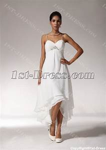 sexy high low hem casual beach wedding dresses bmjc890408 With sexy casual wedding dress