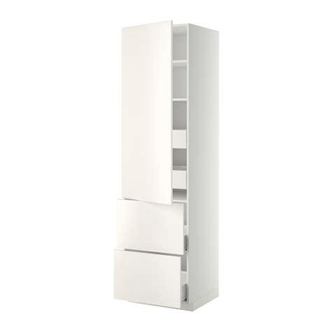 colonne de cuisine ikea metod f 214 rvara 201 lt haut tablettes 4tir pte 2faces blanc veddinge blanc 60x60x220 cm ikea