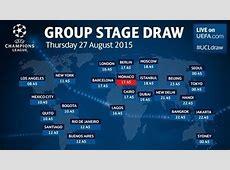 UEFA Champions League group stage draw pots UEFA