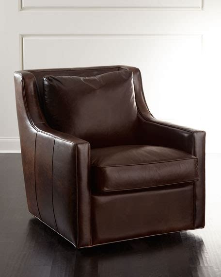 luther swivel chair salina leather swivel chair neiman 3899