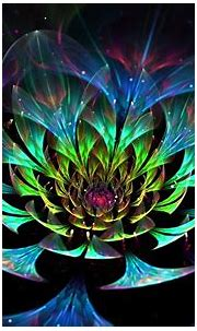 Abstract colorful Lotus 3D flower - Art Design Wallpaper ...