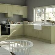 Traditionalstyle Kitchen With Olive Cabinetry  Green Kitchen Colour Ideas