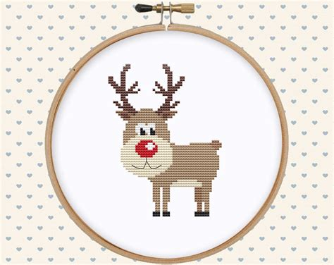 Christmas Deer Cross Stitch Pattern Pdf Christmas Cross