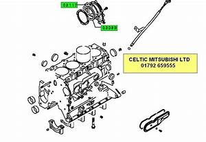 Mitsubishi L200 K74t 2 5td Rear Crankshaft Main Seal  U0026 Gasket Set
