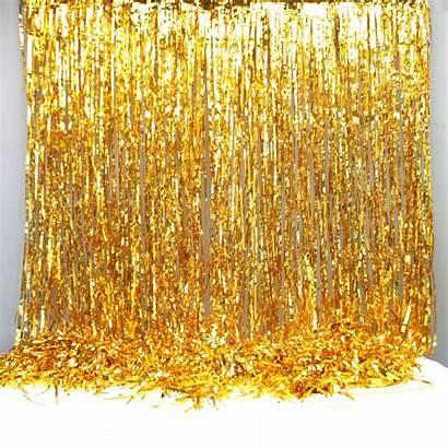 Foil Curtain Gold Party Decoration Backdrop Drop