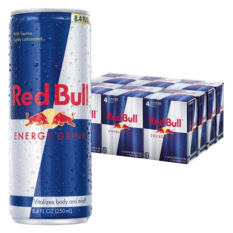 bull energy bull energy drink 8 4 fl oz cans 6 packs of 4 total 24 cans food beverages tobacco
