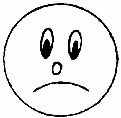 Face Sad Coloring Smiley Line Pages Printable