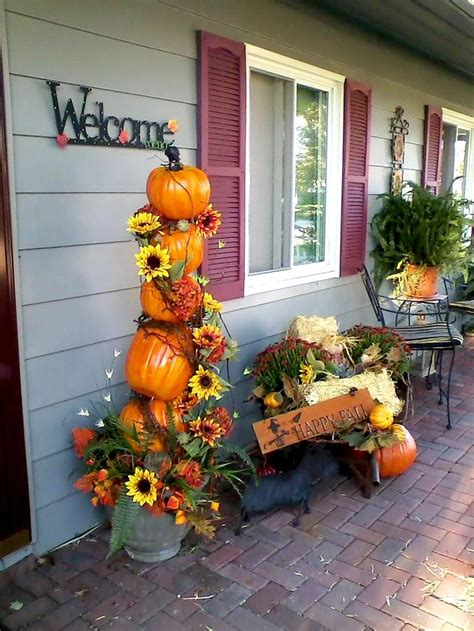 front porch fall decorations front porch decorations for autumn fall y all pinterest