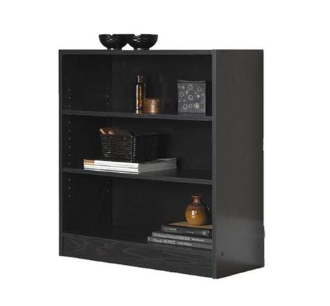 walmart black bookshelf mainstays 3 shelf bookcase walmart ca