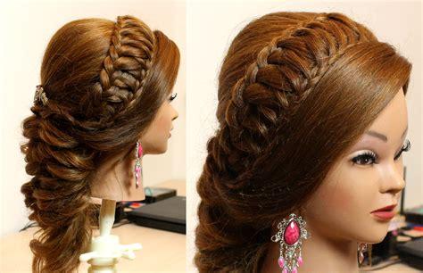 bridal hairstyle  long hair tutorial youtube
