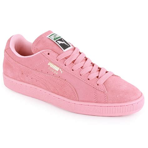 light pink puma shoes puma suede classic womens suede trainers light pink