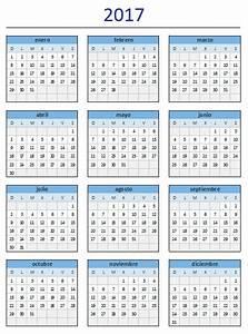 Descarga el estupendo calendario 2017 de Excel Total