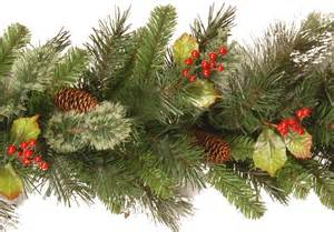 9ft wintry pine artificial christmas garland hayes garden world