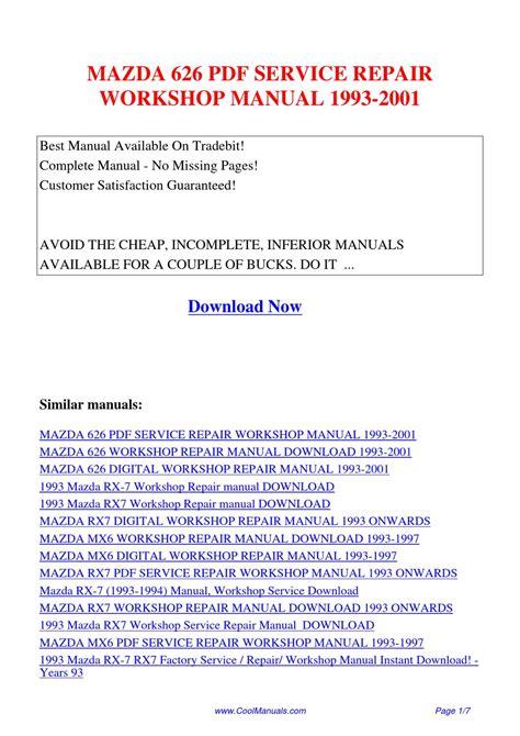 how to download repair manuals 1993 mazda b series parental controls mazda 626 service repair workshop manual 1993 2001 by kai kaik issuu
