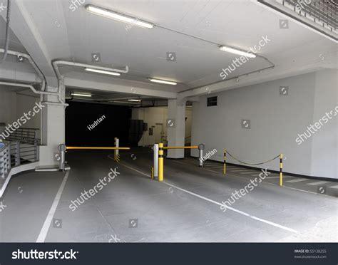 Entrance Ramp Underground Parking Garage Stock Photo