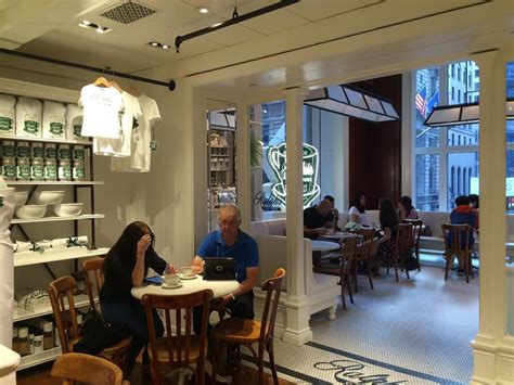 Ralph's coffee represents the timeless american spirit of the ralph lauren brand. Ralph's Coffee Shop, NYC ~Tucked away on the second floor of the Ralph Lauren store on Fifth ...