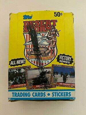 1998 r & n china co. 1991 Topps Desert Storm Trading Card 36ct Full Box Unopened Cards Victory Series 41116124594 | eBay