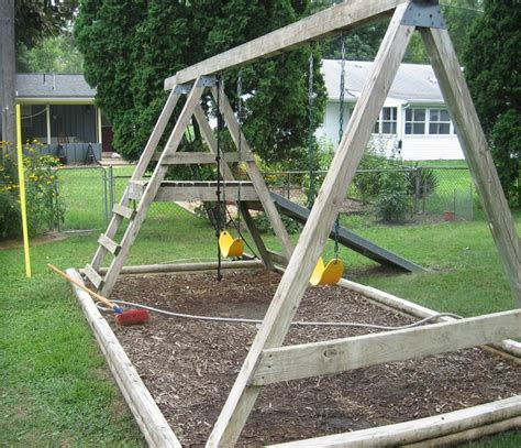simple wood swing set plans woodworking projects