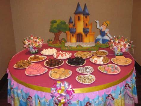 gorgeous disney princess birthday party ideas table