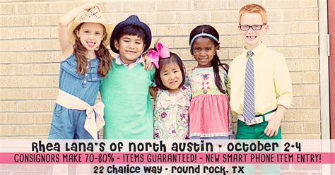 rhea lanas  north austin consignment sale  family