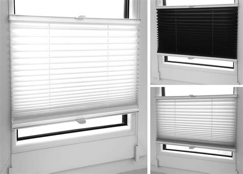 pleated blinds  sizescolours easy fit install plisse
