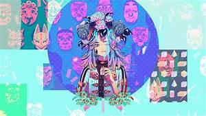 Desktop, Wallpaper, Anime, Masks, Glitch, Art, Aki, Akane, Art, Hd, Image, Picture, Background, 338ee4