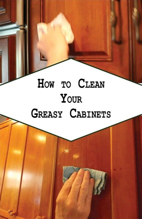 clean  greasy cabinets cleaning cabinets