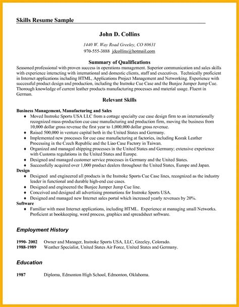 Editorial Skills Resume by 9 Skills On Resume Bursary Cover Letter