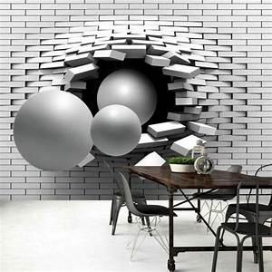 Papier Peint Trompe L Oeil Brique : 1001 id es pour un papier peint trompe l 39 il les d cos ~ Premium-room.com Idées de Décoration