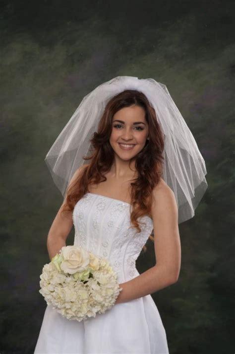 shoulder wedding veils  layers short bridal veils blusher