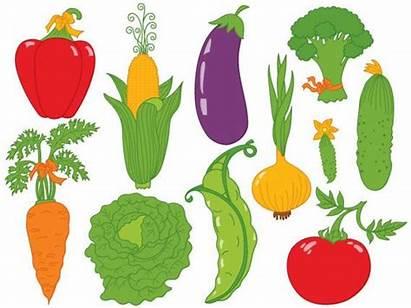 Vegetables Cartoon Clipart Clip Vector Digital Veggies