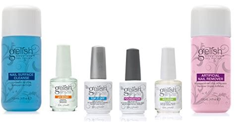 New Gelish Full Size Gel Nail Polish Basix Care Kit (15ml