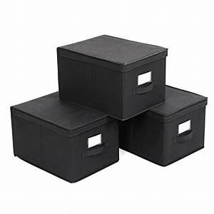Stoffbox Mit Deckel : songmics 3 st ck faltbox mit deckel faltbare aufbewahrungsbox stoffbox schwarz 40x30x25cm rfb03h ~ Frokenaadalensverden.com Haus und Dekorationen