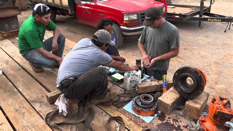 replace excavator swing gear seal hd youtube