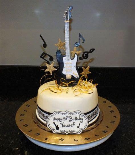 pin  paola vargas  bake goods   guitar cake