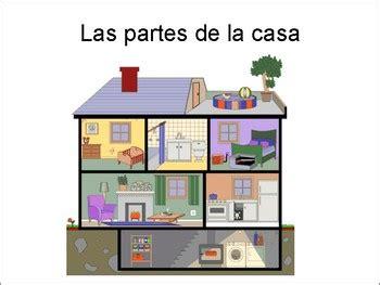 las partes de la casa spanish parts   house