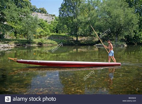 Punt Boat by Punt Boat On Vrbas River Banja Luka Bosnia And