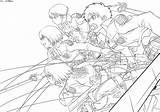 Anime Titan Coloring Attack Levi Lineart Shingeki Kyojin Deviantart Eren Titans Drawing Manga Colouring Sheets Mikasa Armin Squad Corps Survey sketch template