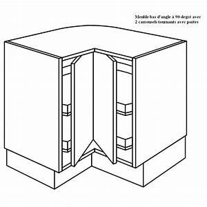 Meuble Angle Cuisine : meuble d 39 angle 2 plateaux tournants 90 degr e ~ Teatrodelosmanantiales.com Idées de Décoration