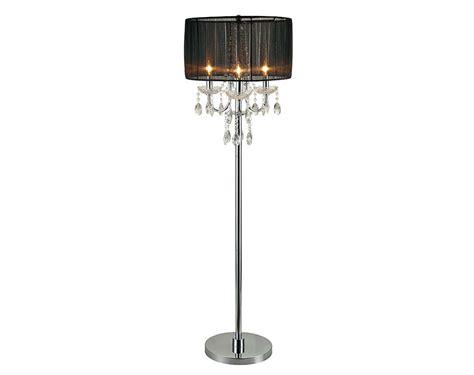 black shade silver base chandelier black