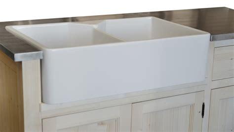 evier cuisine 2 bacs gres meuble évier 2 bacs timbre d 39 office pin massif zinc