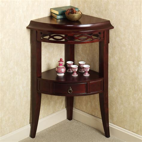 Small Corner Accent Table With Drawer Of Aruza Corner