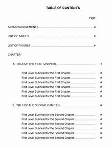 22 table of contents pdf doc free premium templates With apa table template word