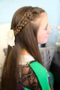 Slide Up Braid Cute Girls Hairstyles