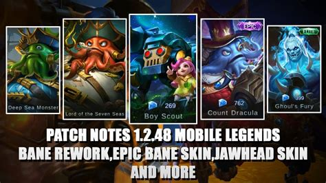 Patch Notes 1.2.48 Mobile Legends Bang Bang 😍 (bane Rework