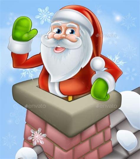 santa christmas chimney scene christmas vectors santa