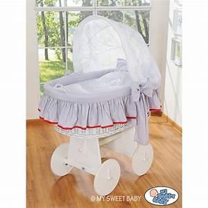 Berceau Bebe Blanc : berceau b b osier glamour gris blanc berceaux osier ~ Teatrodelosmanantiales.com Idées de Décoration