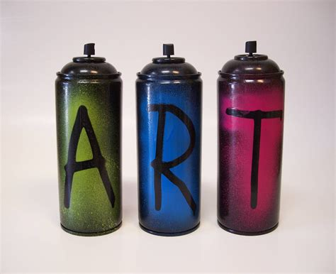 2 Sided Empty Spray Paint Cans Set Of 3 Paint The Can Not The