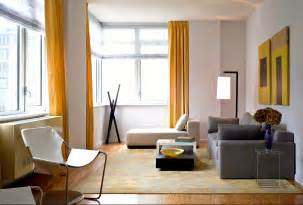 yellow and gray modern decor living room just decorate